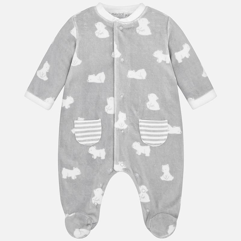 516213858a5 Πιτζαμάκι Βελουτέ για Μωρό Αγόρι Mayoral | LimonetiKids
