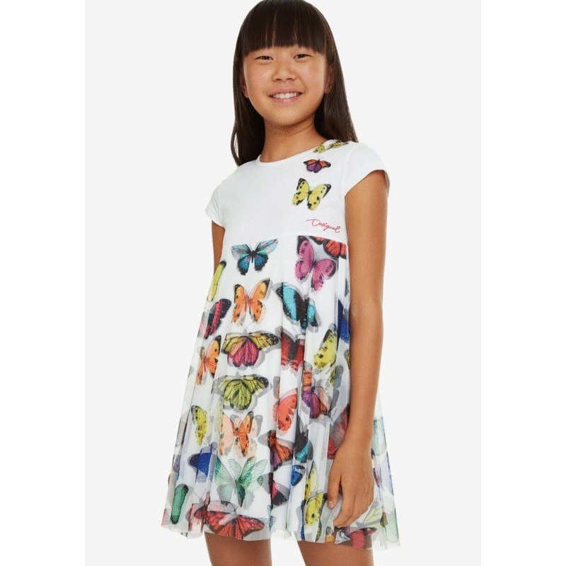 0e8e8ade803 Φόρεμα Πεταλούδες σε Τούλι Yamena Desigual | LimonetiKids