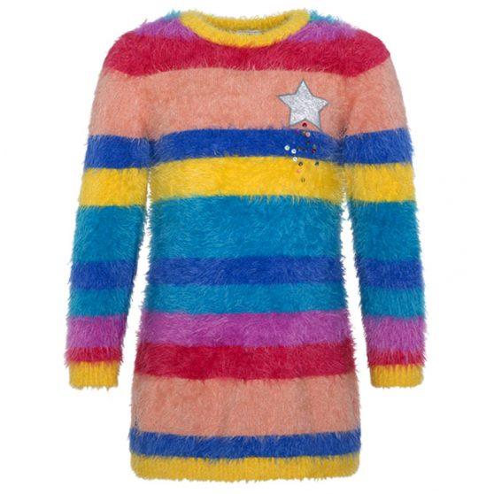 50706-tuctuc-forema-koritsi-plekto-yellow-stripes-soft-pile-dress-for-girl-rainbow