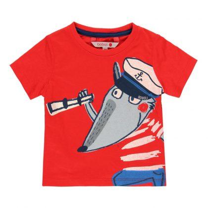 309068-boboli-blouza-agori-kokkini-tipoma-alepou-nautis-t-shirt