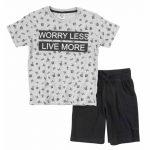 120-101104-funky-set-agori-worry-less-live-more-blouza-gri-bermouda-mauri