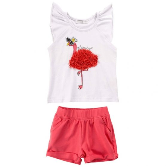 120-724103-funky-set-koritsi-blouza-flamingo-sortsaki-tsepes-korali