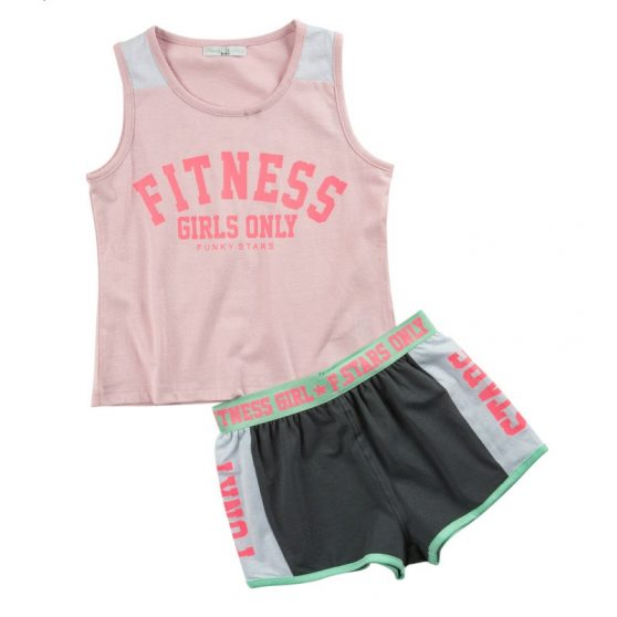 121-524124-funky-set-blouza-tiranta-fitness-sorts-mako-lasticho-fardi-funky-stars-girl-lefko-roz